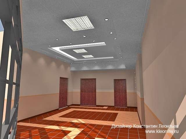 3Д ищображение холла банка
