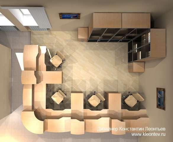 3Д визуализация операционного зала банка