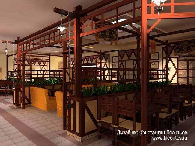 3Д визуализация интерьера кафе