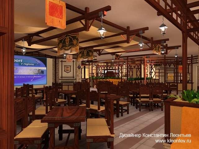 3Д картинка интерьера ресторана