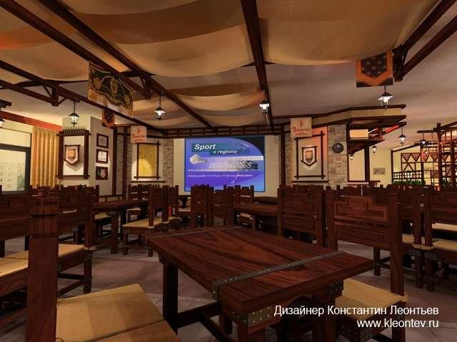 3Д изображение ресторана