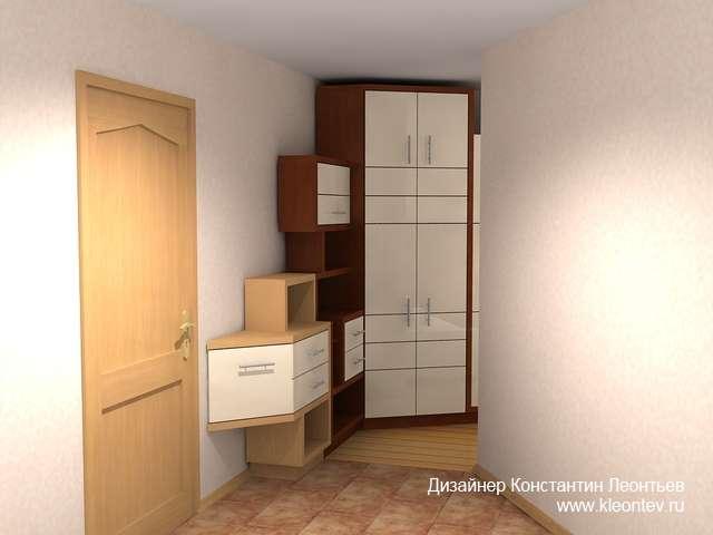 3Д картинка шкафа для прихожей