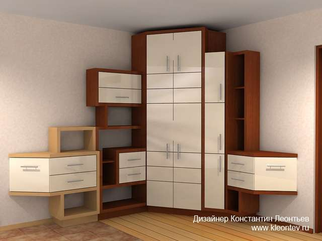 3Д визуализация мебели для прихожей