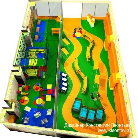 3Д визуализация магазина детских товаров