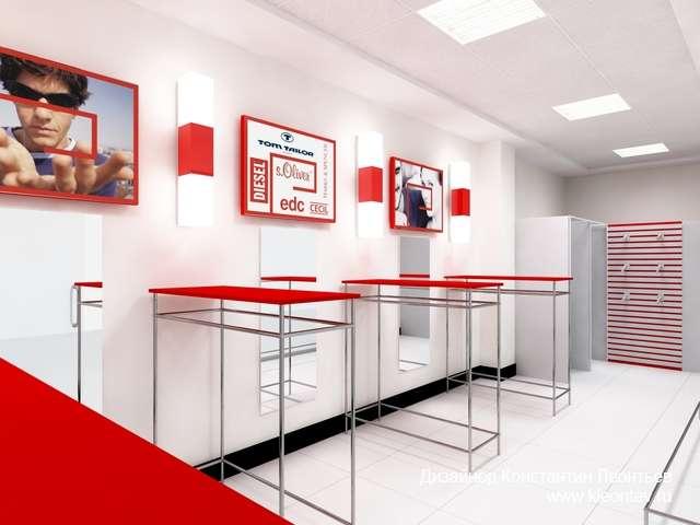 3Д рендер магазина
