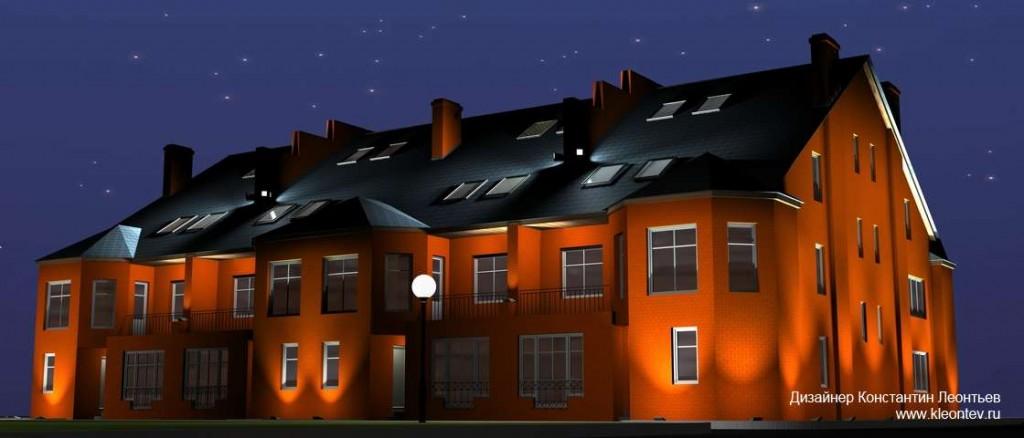 3Д визуализация подсветки