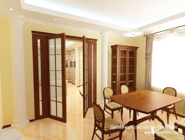 3Д изображение интерьера кухни