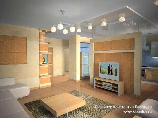 3Д виз интерьера гостиной