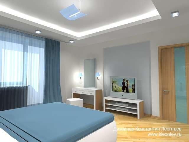 3Д интерьер спальни