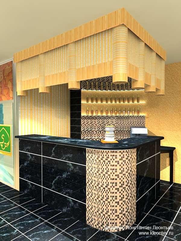 3Д визуализация барной стойки