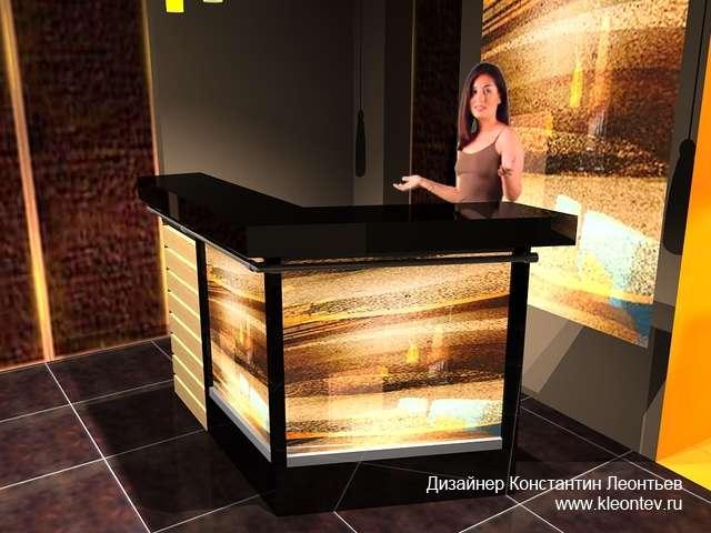 3Д визуализация холла