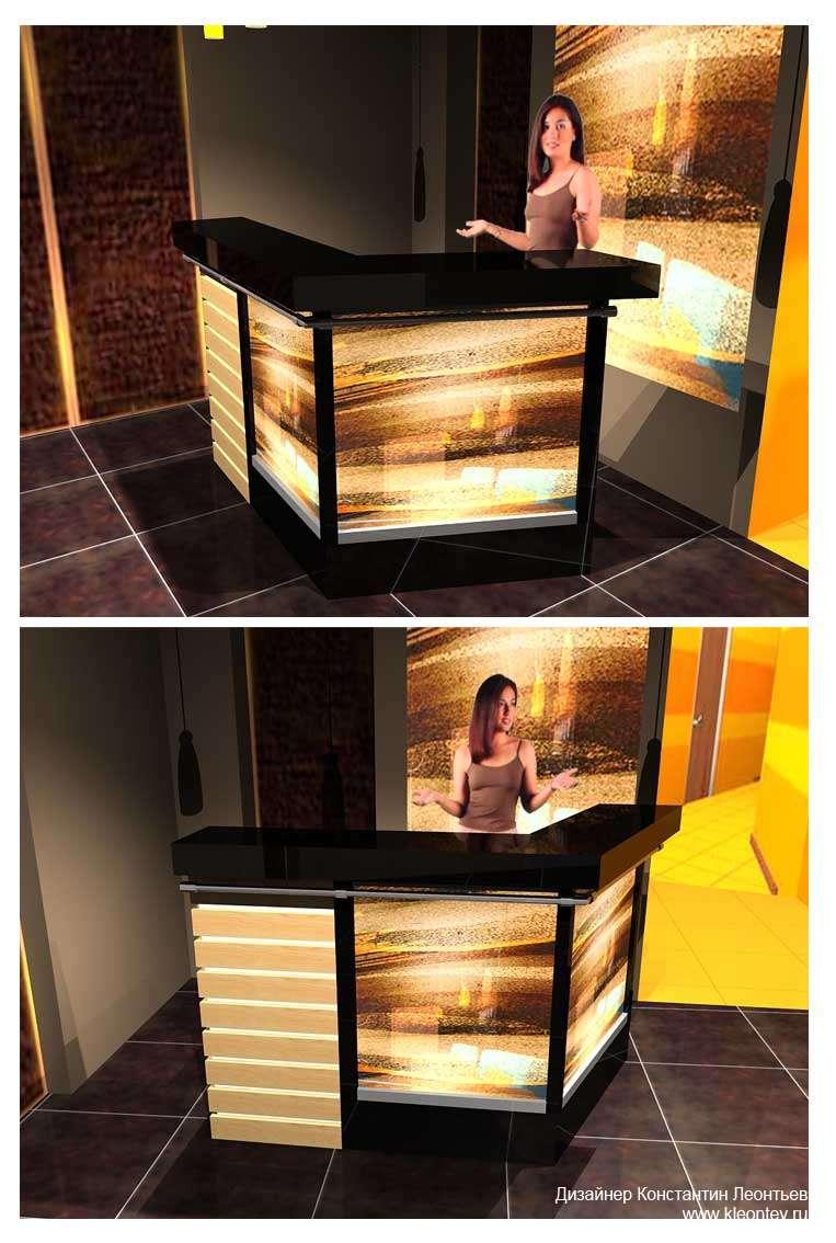 3Д изобажения интерьера салона загара