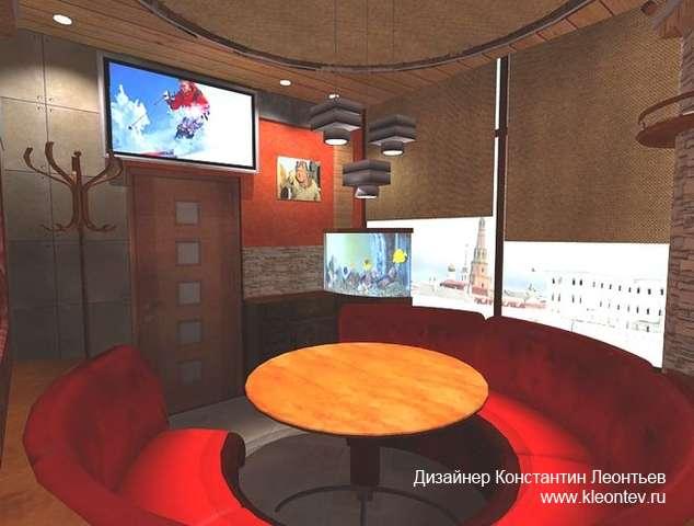Дизайн приват комнаты в кафе