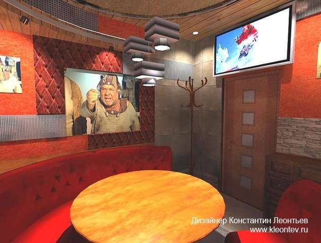 Интерьер приват комнаты в кафе