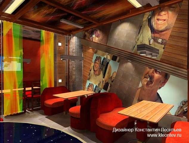3D визуализация интерьера кафе