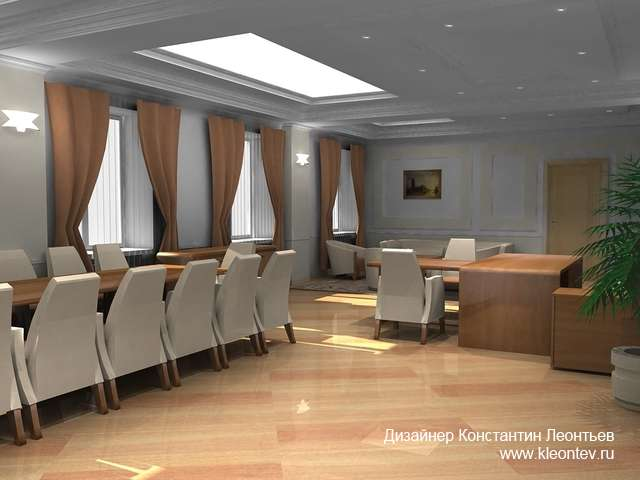 Интерьер кабинета руководителя банка