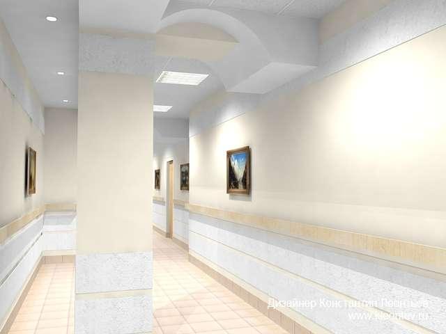 3Д изображение коридора