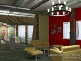 Визуализация интерьера кафе Стиляги