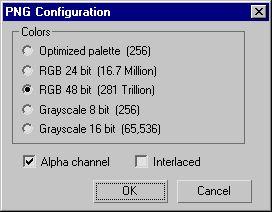 Настройки рендеринга в формат PNG
