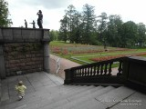 Ступеньки гранитной террасы