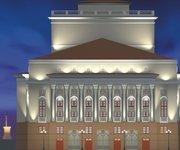 Подсветка фасадов оперного театра