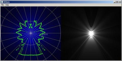 IES Generator 4.0: окно программы