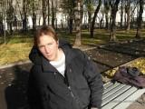 На скамейке в сквере Девичьего Поля