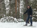 Автопортрет на лыжне в лесочке у отеля