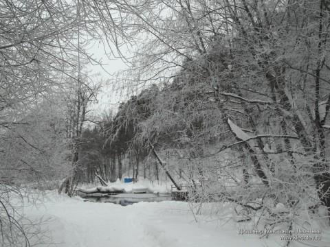 На Голубом озере после снегопада