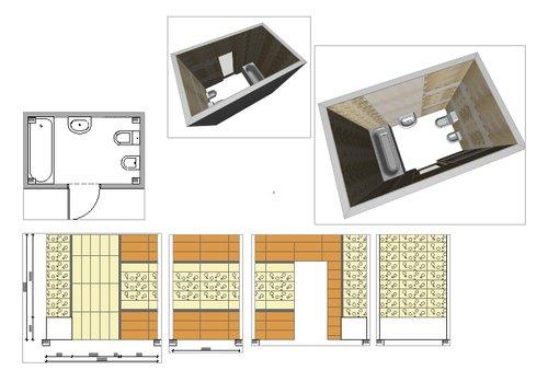 Видеоурок создание разверток стен и раскладки плитки в ArchiCAD