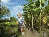 Фото девочка с лопаткой в саду