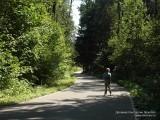 Фото мальчик на лыжероллерной трассе