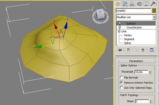 Построение ландшафта с помощью Surface в 3ds Max