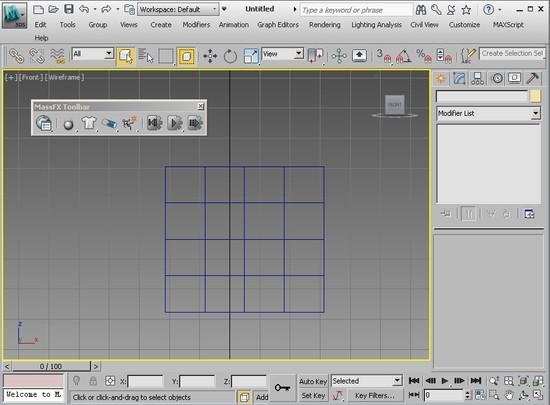 Панель Mass FX в 3ds Max 2013