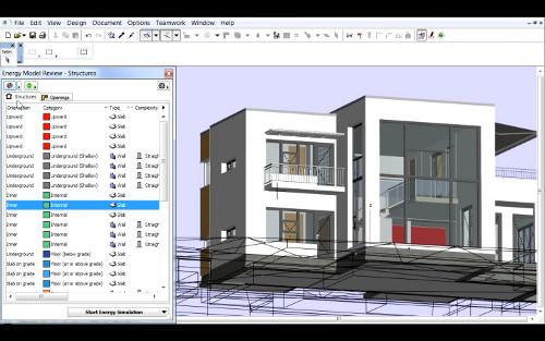 Archicad 16 визуализация энергетической модели здания