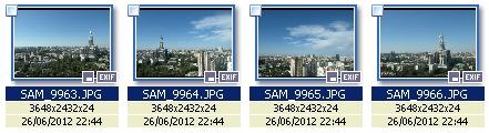 Исходные файлы для склейки панорам