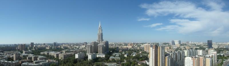 Готовая панорама Москвы после ручной обрезки