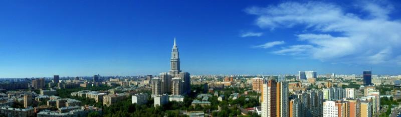 Панорама Москвы в районе Сокол