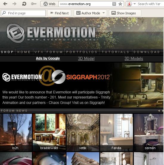 Покупка текстур на сайте Evermotion