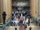 Танцы на главной лестнице ГМИИ