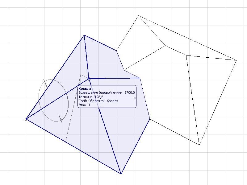 Выбор плоскости для простановки размера