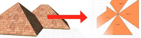Развертка крыши в ArchiCAD