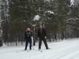 Два одиноких лыжника