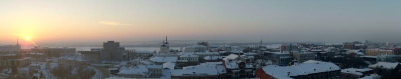 Панорама зимнего Томска