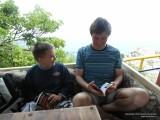 Отец с сыном читают книги