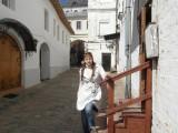 Девушка в старинном переулке