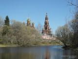 Монастырь за озером