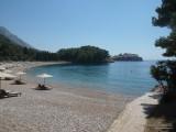 Королевский пляж с видом на Свети Стефан
