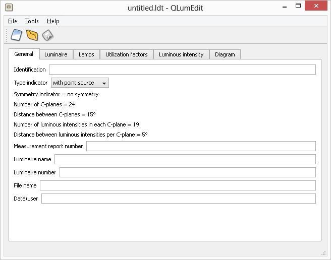Окно программы QLumEdit