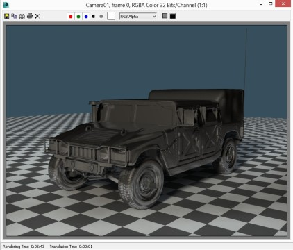 GS70 3ds Max Mental Ray hummer test
